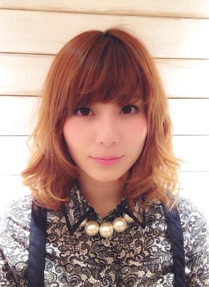 のばしかけの髪もパーマで楽しく♫ cut&perm AUBETOKYO所属・AMIのスタイル