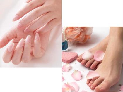 ジェルネイルのお取り外し(オフのみ)お爪形成・表面整え・お爪補強剤ベースコート二度塗り込み。