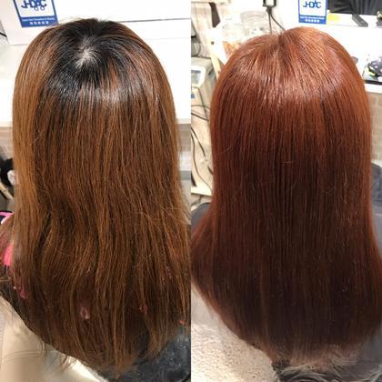 ヘアカラーで可愛いくチェリーブラウンにチェンジ! hair&make 8LAMIA8所属・hair&make8LAMIA8のスタイル