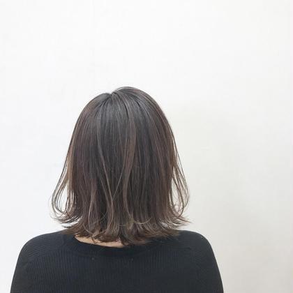 前髪カット+シングルカラー