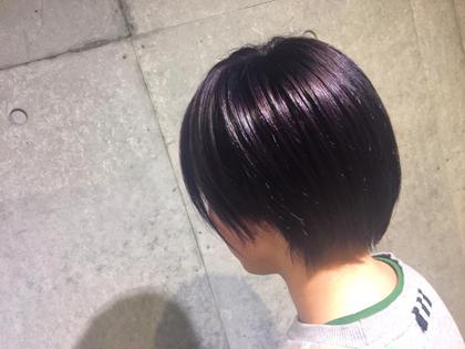 grape purple color 🍇✨ EARTH大和店所属・窪田優也のスタイル
