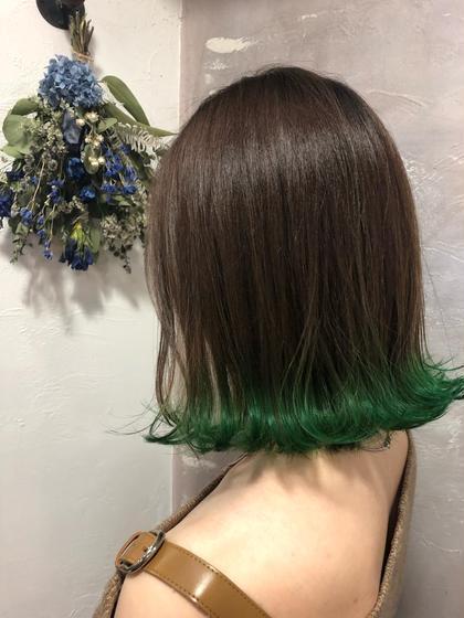 【 💋裾ブリーチ+カラー 💋】