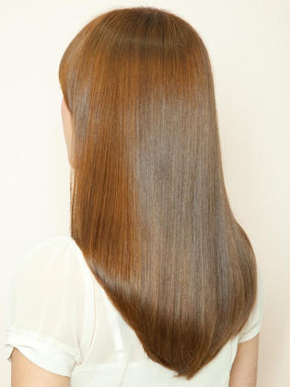 【天使の艶髪★】 カット+低温縮毛矯正+選べる極上SPA+潤トリートメント \9700