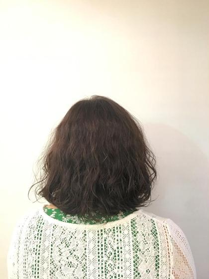 パーマ ミディアム パーマスタイル♡しっかりと強めにかけました^_^