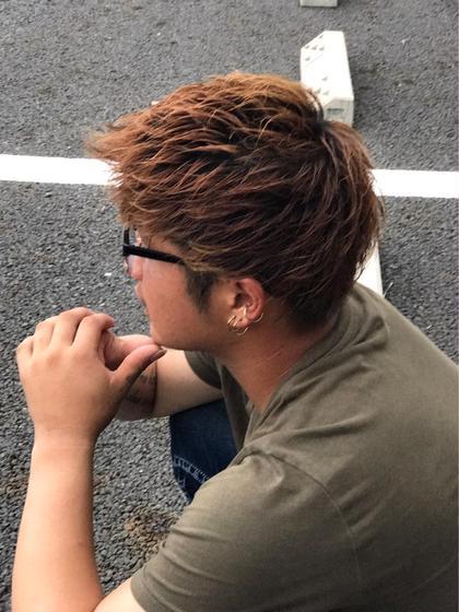 今どき風メンズショートアップバング hair resortAi東陽町店所属・髪質改善/外国人風ヘアカラー/小泉賢徒のスタイル
