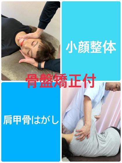 骨盤矯正付【小顔整体+肩甲骨はがし】(お顔のむくみ、肩こり、歪み解消)80分 ¥5,500→¥5,000