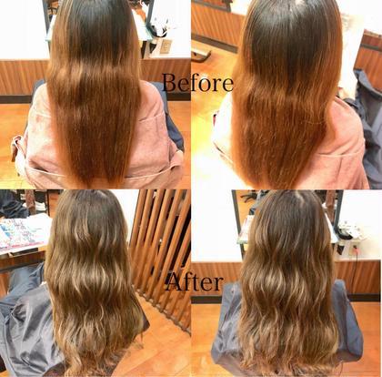 谷口彩乃のロングのヘアスタイル