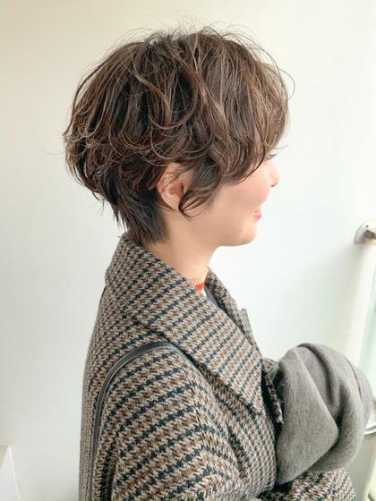 【平日新規限定】カット + パーマ + 3Step内部補修トリートメント