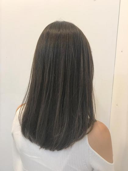 福島大生   歴10年のセミロングのヘアスタイル