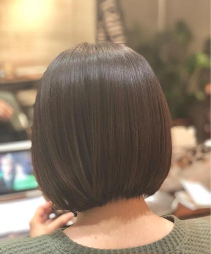 ショート 髪質と首までキレイなコンパクトボブ