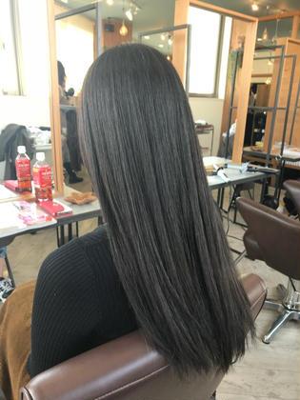 ❗️平日限定❗️縮毛矯正+透明感&ツヤ感カラー+カット