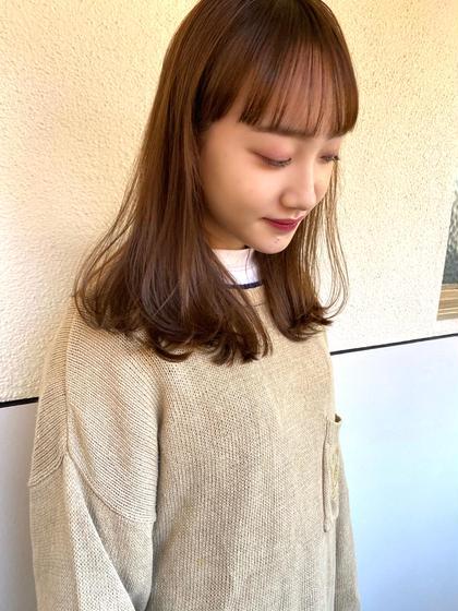 【前髪カット+ケラスターゼトリートメント】¥3800/学割¥3420