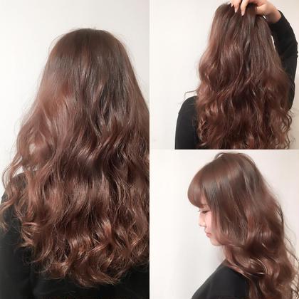 【モーブピンクアッシュカラー×ロングウェーブスタイル】  春はピンクカラーで決まりです♪ hairsalon M 新宿所属・ShimazuDaichiのスタイル