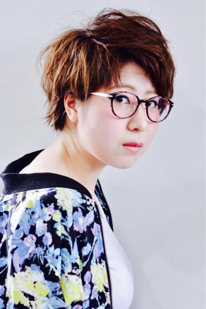 撮影講習にて クールショート Hair&Make HUG所属・前野由香のスタイル