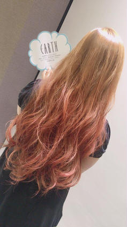 春っぽカラー 元々ハイトーンだったのでしっかり色が入ってくれました!ブリーチ必須です。  Hair&MakeEARTH上田店所属・古谷菜月のスタイル