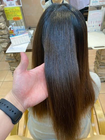 【髪質改善】【うる艶ストレート】【駅近大手サロン】髪質改善コスメストレート+トリートメント⭐