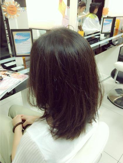 軽めボブ!今は軽めが流行ってます。少し段を付けてあげるだけで柔らかい印象になりますよ^O^)/ hair make Ash所属・佐藤光輝のスタイル