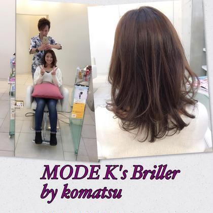Instagramを見てのご来店♪  神戸の北区からきてくれた海奈ちゃん♫  めちゃ明るかった髪をモノトーンとウォームブラウンでトーンコントロール✨ トリートメントもしてくれたのでサラサラ艶髪です( ´ ▽ ` )ノ 遠い中ありがとうございます(≧∇≦) モードケイズNisinomiya所属・サロンディレクター小松 直樹のスタイル