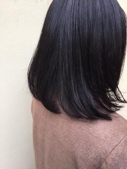 黒染めは嫌だけど暗くしたい方オススメのカラーです❗️  冬にぴったりな落ち着いたカラーに仕上げます✨ MAKE'Somotesando所属・高浜夕海のスタイル