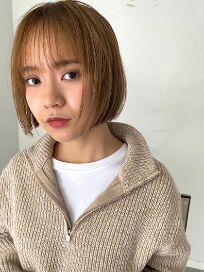 前髪カット(コテ巻き、アレンジ付き)