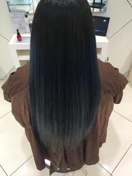 クリエイティブグラデーション✨ 1度脱色した状態から様々なブルー系のアッシュでどこでも目立つブルーグラデーション♪ hair&make earth   大船店所属・大澤優樹のスタイル
