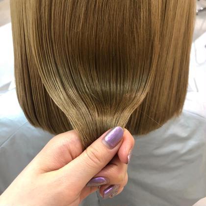 ワンカラー+髪質改善🌈[超音波アイロン使用]