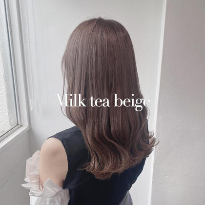 🧊透明感カラー🧊 ミルクティーカラー ブラウン系カラー +トリートメント炭酸spa付き