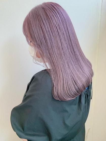 【ケアブリーチ使用】✨似合わせハイトーンカラー+髪質改善生トリートメント✨