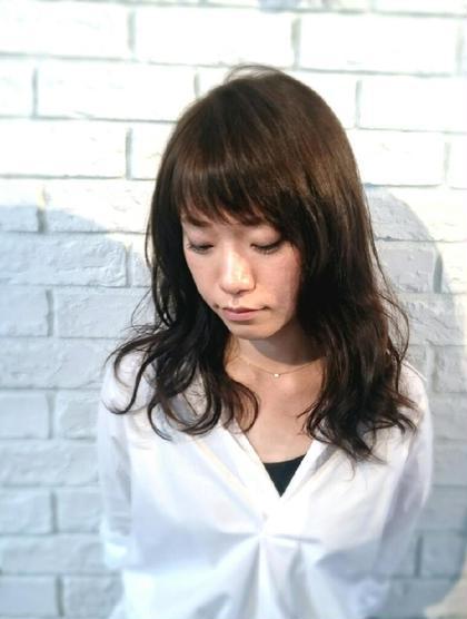 ゆるふわデジタルパーマ♪ カラーはアッシュベージュでツヤ髪に♪ ヘアークリアー蕨店所属・田坂真弓のスタイル