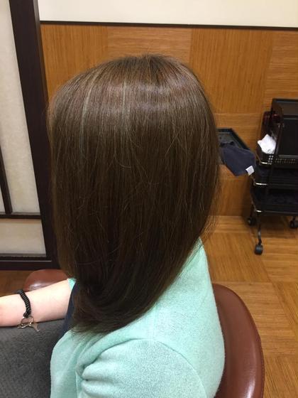 全体的にハイライトが入っていた髪の毛にアッシュを残しつつナチュラルに仕上げました^^* UNIX キラリトギンザ店所属・【ここをタップ】松本じゅんのスタイル