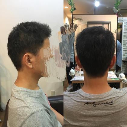 刈り上げメンズ 立ち上げバングで爽やかにっ! Hair Salon Viage所属・W.ayumiのスタイル