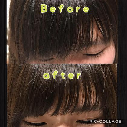 毎朝コテいらずの前髪へ🌈《カット》➕《前髪パーマ》➕《tokioトリートメント》
