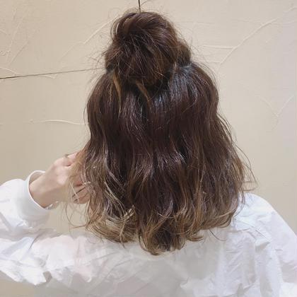 ハーフアップお団子🌹 Ash桜新町店所属・新道えり子のスタイル