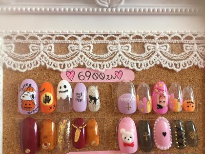 10月の定額デザイン♡ ¥6900拡大写真です꒰⌯͒•·̫•⌯͒꒱ Candy Nail所属・Mayutan♡のフォト