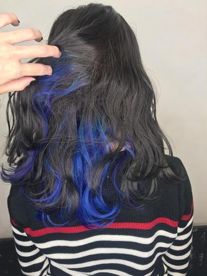 カラー ユニコンカラー、インナーカラー 青✕紫✕ターコイズ