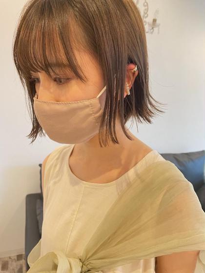 【根元ブリーチ】ブリーチリタッチ+艶カラー