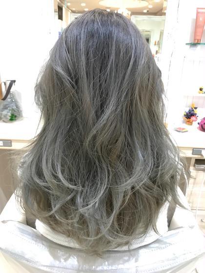 ✨鉄板メニュー✨グレー系カラー(ブリーチ+カラー)