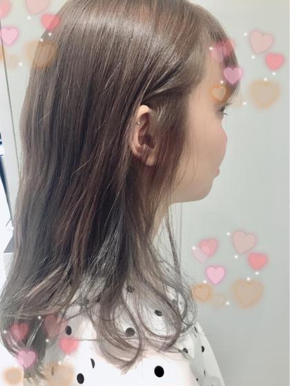 グレー♡インナー♡ブリーチ2回♡ 関口三都季のヘアカラーカタログ