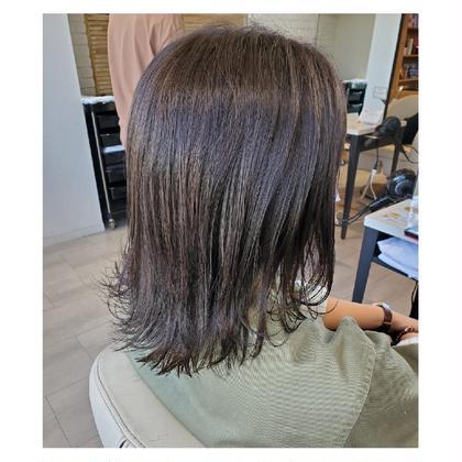《透明感ある髪へ》カット&ナチュラル艶カラー&プチトリートメント