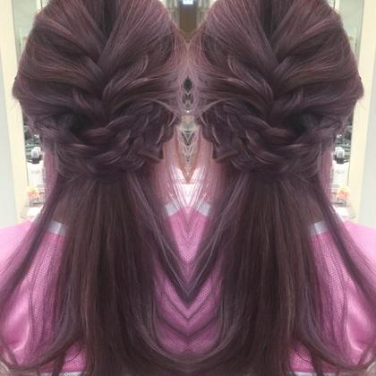 ピンクパープル  かなり透明感でますよね(^^) レイフィールド天神店所属・レイフィールド天神のスタイル