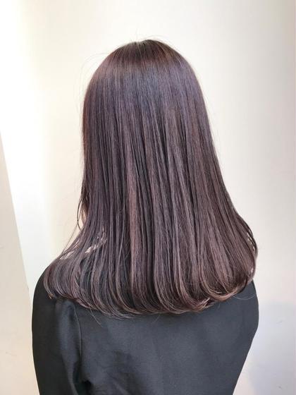 🌼ミニモ価格通常より50%オフ🌼🌸うるツヤピンクベージュカラー&髪質改善トリートメント🌸