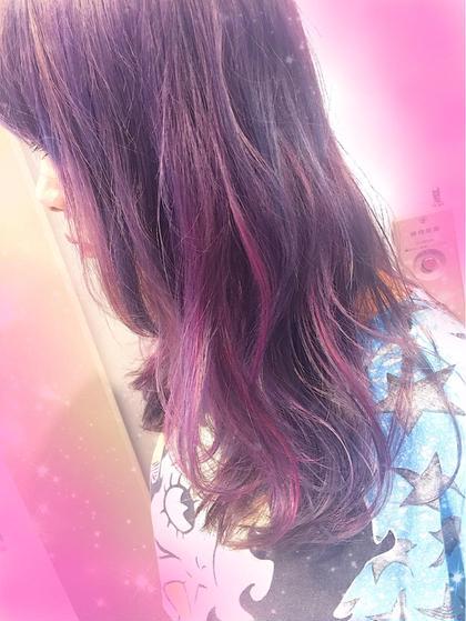 pink × violet フリーランス美容師所属・🎀miyu/ピンク×ラベンダーのスタイル