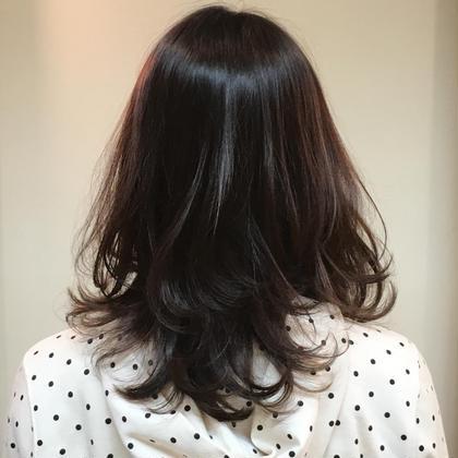 寒色暗め艶カラー m.slash所属・高橋勇也のスタイル