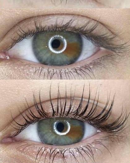 目が大きく見える💣技あり🤩まつ毛パーマ✨カール→まぶたにつくような上向き角度がお好きな方におススメ👀💕