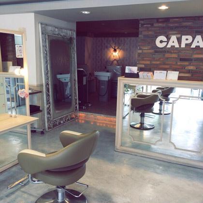 受付です。CAPAはビルの2階にありますので階段を登って左手にあります。 capa所属・大島愛海のスタイル