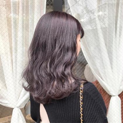 🍒前髪カット+頭皮が敏感な方でも安心◎ヒアルロン酸配合*オーガニックカラー✨+9種オーガニックトリートメント🍒