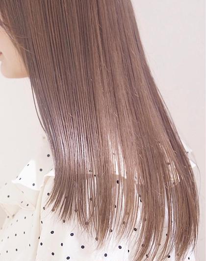 🤍【ブリーチ無し透明感カラー】似合わせカット+wケアカラー+N.トリートメント🤍_¥14000
