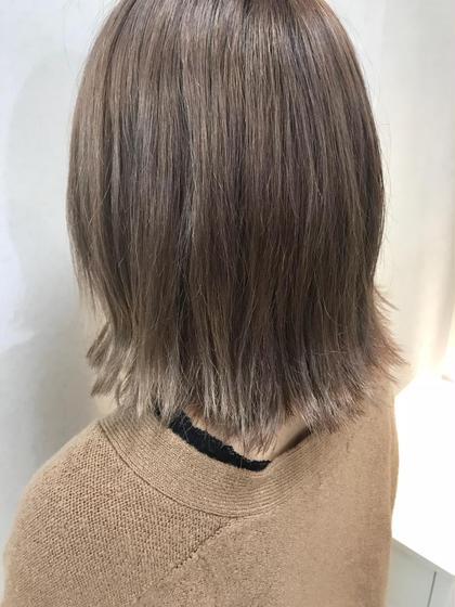 💥イルミナカラー💥  💥ロイヤルミルクティー💥 石川幸二のショートのヘアスタイル
