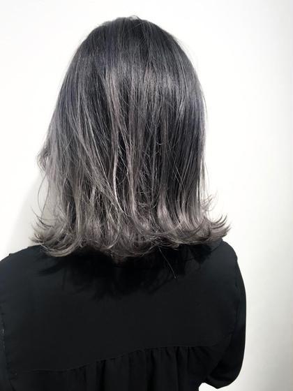 外国人風バレイヤージュカラー☆  色味はアッシュグレーで赤みを消して、 外国人風の動きのある髪色に♪  ブリーチの際は、再生美容液を使用することで 傷みを最小限に抑えれます。    インスタグラムで、その他スタイル更新してます。 気に入ったスタイルは保存しておいてもらうと カウンセリングがスムーズです☆  instagram→@hayatoniwa