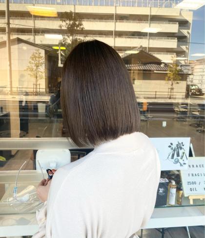 ☑️カット➕全体カラー➕髪質改善トリートメント【頭皮のマッサージ付】